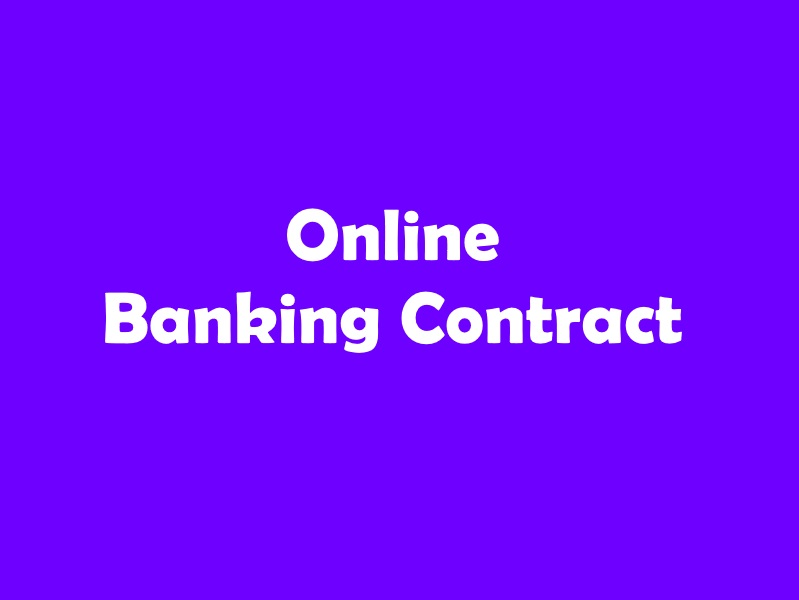 Online Banking Contract